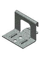 1-1/2 in. Snap-Lock Panel Clip, 2-Hole, 18 Ga Galv. (box/500)