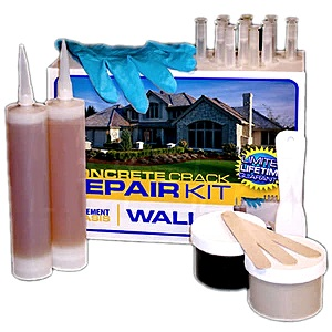 Concrete Wall Crack Urethane Injection Repair Kit, 10-Foot Kit - Concrete Wall Crack Repair Kit (10 Foot). Uses Low-Pressure Urethane Foam Injection. Complete Kit. Made by CME is USA. Price/Kit.