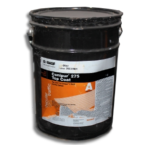 Conipur 275 Waterproofing Topcoat, Interior Grade, BLACK (4.78G) - CONIPUR 275 WATERPROOFING INTERIOR GRADE TOP COAT (color pigment not UV resistant), BLACK COLOR, 2-COMPONENT, 4.78G KIT. PRICE/KIT. (special order, see detail view for ordering notes)