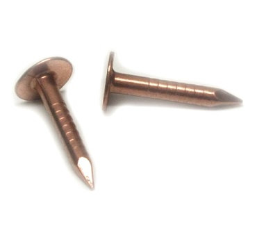 3 4 Inch Copper Roofing Nails Smooth Shank 325 Head 1 Lb
