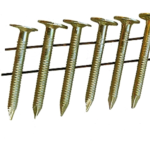 1-1/2 x .120 EG Coil Roofing Nails, RING Shank (7200) - 1-1/2 x .120 EG Plated Coil Roofing Nails, RING Shank, 3/8 Head. 120 Nails/Coil, 60 Coils/Box. 7200 Nails/Box. Price/Box.