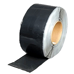 BLACK EPDM Coverstrip Tape, 6 inch Wide (Per Foot) - BLACK EPDM-FACED TAPE. HEAVY-DUTY CURED EPDM-FACED PEEL/STICK TAPE WITH BLACK BUTYL RUBBER PEEL-STICK ADHESIVE. SUPER DURABLE! 6 in. WIDE. ORDER BY THE FOOT (up to 100