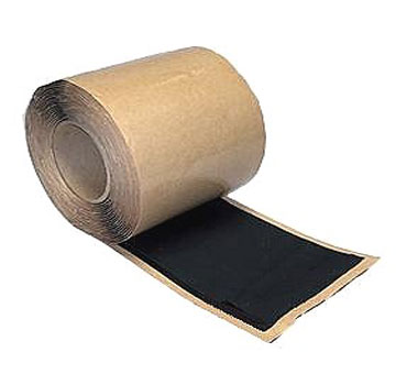 Black EPDM Flashing Grade Tape, 9 in. X 100 ft. Roll (1) - Black EPDM FLASHING Grade Tape With Butyl Rubber Peel and Stick Adhesive. Uncured Flashing Grade EPDM stretches some for irregular areas. LionGUARD Brand, Made in USA. 9-Inch Wide X 100 Foot Roll. Price/Roll. (special order; leadtime 2-3 business days)