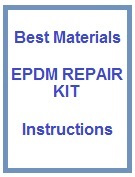 EPDM Patch Repair DIY Instruction Set for 5x5 Kits