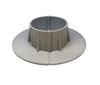 E-Curb 3 Inch ID Round Pipe Flashing Curb (1-Pair) - Chem Link E-Curb 3-Inch ID Round GRAY Color MiniCurbs Pipe Flashing Curbs (F1333). Contains 2 pieces (one-pair). Price/Pair. (uses M-1 and 0.06G of 1-Part filler not included)