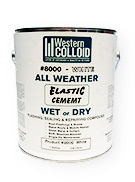 WC #8000, WHITE All Weather Elastic Flashing Cement (1G)