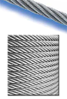 Galvanized Aircraft Cable 7x7, 1/4 in. x 10,000 feet