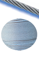 Galvanized Aircraft Cable 7x7, 1/8 inch x 1000 feet