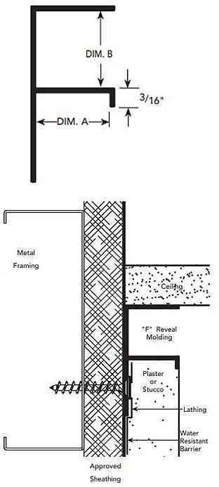Fry Reglet Fpm 75 50 F Reveal Molding 3 4x1 2 Inch Clear