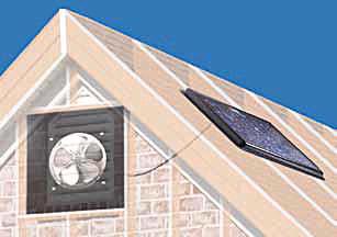 Solar Powered Attic Fan Gable Mount 30w W Fixed Thermostat