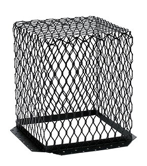 Roof Vent Guard, Animal Control Screen, 11 x 11 x 13, Stainless Steel, Black - HY-C Company #RVG1111P Roof Vent Guard / Animal Control Screen, 18 Gauge Stainless Steel 11 x 11 inch base x 12-inches High (inside opening), Painted Black. For use over roof vents. Price/Each. (shipping lead time 1-3 business days)
