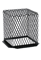 Roof Vent Guard, Animal Control Screen, 11 x 11 x 13, Stainless Steel, Black