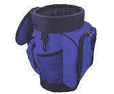 Soft Sided Cooler Bag, Blue/Black (1) - DISCONTINUED ITEM. SOFTSIDED ZIPPERD COOLING BAG. BLUE/BLACK COLOR. PRICE/EACH.