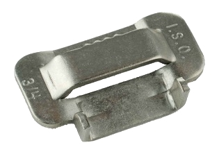 "3/4 inch Stainless Steel Banding Buckles (100) - ISO #BU256, 3/4 inch 201 Stainless Steel Banding Buckles, 0.070"" Thickness. Tensile 95,000 PSI Minimum. Made in USA. 100/Box. Price/Box. (similar to # C25699)"