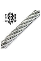 IWRC Galvanized Wire Rope, 6x19, 1/2 inch (price/foot)