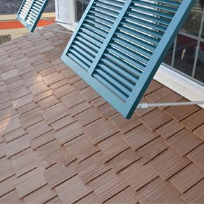 InSpire Synthetic Shake Roof FIELD Tiles, 3-Size, Specify COLOR, 24 - InSpire Roofing Multi-Size Polymer Composite Shake Tiles. 24 inch long with 3 widths: 5, 7-1/2 and 10 inch. 24/Bundle. Price/Bundle. (SPECIFY COLOR before adding to cart; up to 3-4 week leadtime)