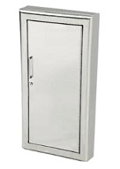 12 x 27 Fire Extinguisher Cabinet, Fire Resistant, Solid Door, Fully Recessed
