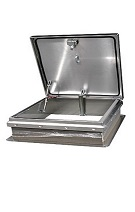 30 x 54 Roof Access Hatch,  Diamond Series, Aluminum, Mill Finish