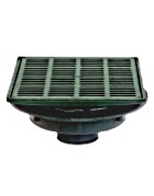 Josam 2350(X) 14 in Sq. Floor Drain, Lg. Sump, HD Top, Specify Outlet