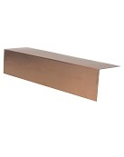 3 in.  X 3 in. X 10 ft. L Metal / Fascia, 24 Ga Copper