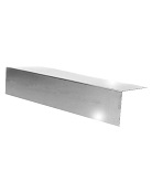 3 in.  X 3 in. X 10 ft. L Metal / Fascia, 24 Ga 304 Stainless Steel