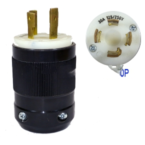 30A 125//250V L14-30 Twist Lock 4-Wire Electrical Female Plug Locking Male Plug