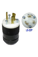 20 Amp 125V L5-20P Male Twist Type Locking Power Plug