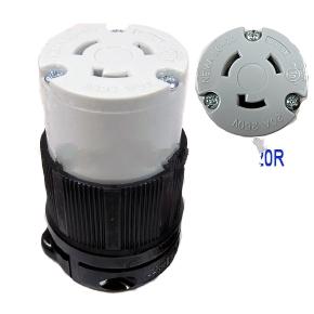 20 amp 250v l6 20c female twist type locking power plug. Black Bedroom Furniture Sets. Home Design Ideas