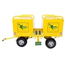 Raptor R2000-03-20-ASM Mobile Fall Protection System with Dual LARGE Job Boxes