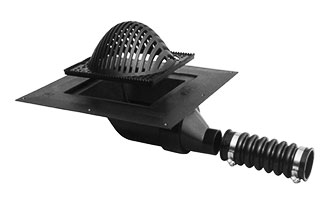 Lsp T 005x Abs Roof Drain With Side Outlet 2 4 Inch Options