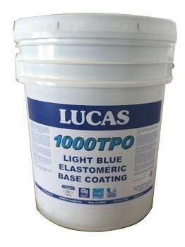 LUCAS #1000TPO TPO Roof Elastomeric Base Coating, 5 Gallon Pail - LUCAS #1000TPO TPO Roof Elastomeric Base Coating, Light Blue Color. 5 Gallon Pail. Price/Pail.
