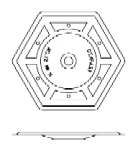 2-7/8 in. Hex Recessed Insulation Plate, Galvalume Steel (1000)