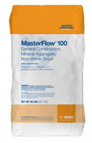 MasterFlow 100 Grout, Multiple Purpose Construction, 50 lb.