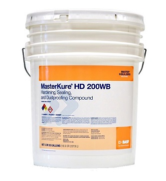 MasterKure HD 200 WB (Kure-N-Harden), Concrete Cure-Harden-Seal, 5G - MasterKure HD 200 WB (formerly KURE-N-HARDEN) 1-Step Concrete Curing, Hardening/Densifying, Dustproofing, Sealing. Eliminates separate curing, hardening and sealing steps. Clear Liquid, Zero VOC. 5G Pail. Price/Pail. (see detail ordering notes)