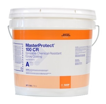 MasterProtect 100CR (Sewer Guard) Kit (4G) - MasterProtect 100CR (formerly Sewer Guard HBS 100) Epoxy Coating, 4-gallon 2-part kit. 100% solids, spray grade high-build chemical-resistant epoxy coating. Price/Kit. (special order, see detail view for ordering notes)