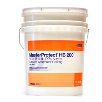 MasterProtect HB 200 Exterior Paint, Bright White (5G) - BASF Masterprotect HB 200 (formerly Thorocoat 200), #446-P BRIGHT WHITE Color, Smooth Exterior Paint. 5G/Pail. Price/Pail. (special order; see detail view for ordering notes)