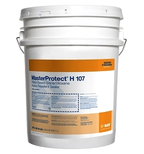 MasterProtect H 107 Concrete/Masonry Silane Sealer, 54G - MasterProtect H 107 (formerly Enviroseal® 7), clear, water-based, 7% silane/Siloxane, penetrating sealer / water repellent. For brick, dense concrete and masonry. 54-Gallon Drum. Price/Drum. (4 drums/pallet; shipping leadtime 2-4 business days)