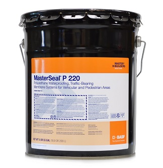 MasterSeal P 220 Primer, 2-Part. 4 Gal Kit - MasterSeal P 220 Waterproofing Primer (formerly Sonoguard Primer 770). A 2-Component Water-Based Epoxy Primer-Sealer. For use on concrete, wood and Metals. 2 Parts, 4Ga in 5G Pail. Price/Kit. (high VOC, not shipable to VOC restricted areas)