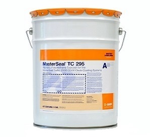MasterSeal TC 295 Waterproofing Topcoat, Exterior Grade, GRAY (4.78G) - MasterSeal TC 295 (formerly Conipur 295) Waterproofing Topcoat, GRAY COLOR, 2-part Fast Curing, UV resistant Exterior Grade, Low VOC. Very High Durability. 4.78G/Kit. Price/Kit.