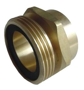 Propane Large Tank Adaptor, 3¼ male Acme x 2 inch FNPT - ME252-16 Propane Large Tank Adaptor, 3-1/4 inch Acme x 2 inch FNPT, Brass with rubber O-Ring. Price/Each. (shipping leadtime 1-2 days)