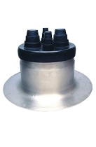 4-Pipe EPDM Flashing Boot w/ 14 in. Aluminum Base (SPECIFY BOOT)