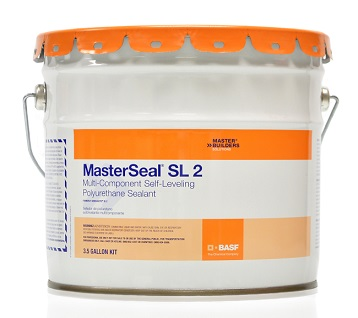 SL2 Polyurethane Wide-Joint Sealant, SLOPE GRADE, Limestone, 3G - MasterSeal SL2 (formerly Sonolastic SL2), LIMESTONE Color (similar to light-gray) Pre-tinted, Multi-Part SLOPE GRADE (thicker than regular SL) Polyurethane Wide Expansion Joint Sealant. Ships as a 3G kit for bulk application. Price/Kit. (special order; se