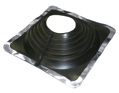 #8 Multi-Flash Retrofit Black EPDM Square-Base Flashing - #8 Multi-Flash, Retro-Style Black EPDM, Square-Base Pipe Flashing Boot. 17x17 Inch Base x 5-3/4 High. 6-3/4 Open Top. Retro mode fits 6-1/2 to 12 inch OD Pipies. Standard Over-the-Top fits 6-3/4 to 13-1/2 Pipes. Price/Each. (Aztec #MF801BA)
