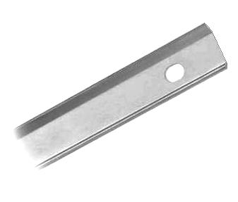 Lipped Term Bar 0 090 Aluminum 500 Ft Specify Hole