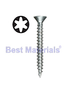 #8 X 1 1/2 Fine Thread Screws, Piercing Point, Zinc, Flat Head (1000)