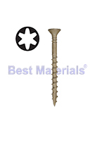 #8 X 3 Tile Roofing Screw, Type-17, Acq, Flat Head (1000)