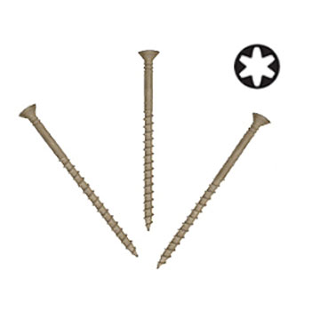 #8 X 2-1/2 Tile Roofing Screw Sharp Point Flat-Head Collated, 1000 - #8 x 2-1/2 Inch Tile Roofing Screws, PAMDrive®, 2/3rd Coarse Thread, Sharp Point, Flat-head, Dacro, Roofing Tile to Wood (ACQ, CBA-A, CA-B Tolerant). Collated. 1000/Box. Price/Box.