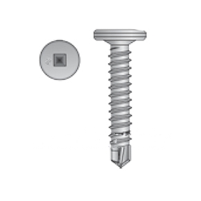 #10 X 1 Pancake Head TEK Screw, Zinc, Collated (1500) - Simpson Quik Drive PCSD Series #10-16 x 1 inch Pancake Head, Metal Roofing-to-Steel, #3 Drill Point Self Drilling TEK Screws, #2 Square Drive, Zinc Plated. Strip Collated. 1500/Box. Price/Box.