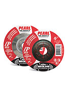 Pearl Abrasives DCRED45H Redline Max A.O. Depressed Center Grinding Wheels, 4-1/2 X 1/4 X 5/8-11 inch (Box/10)