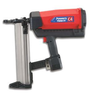 Powers Fasteners C4 Trak-It Gas Fastening Nail Gun - Powers Fasteners C4 Trak-It Gas Fastening / Nail Gun. Price/Each. (uses fuel cells not included)